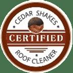 Certified Cedar Shakes Roof Cleaner